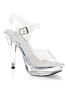 Pleaser USA COCKTAIL-508 Clear Platform Ankle Strap Sandal