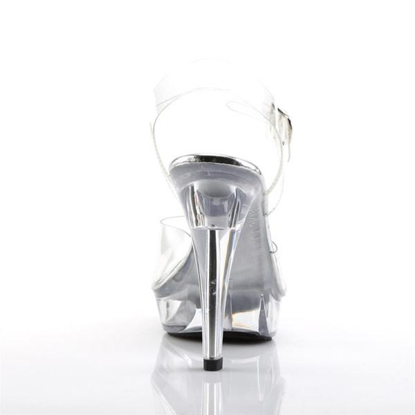 Pleaser USA COCKTAIL-508 Clear Platform Ankle Strap Sandal