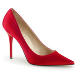 Pleaser USA CLASSIQUE-20 Pointed-Toe Classic Pump (Red)