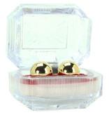 Golden Triangle Ben Wa Balls - Gold in Plastic Box