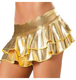 Premium Products PVC Metallic Mini Skirt