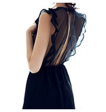 Premium Products Sheer Backless Babydoll (One Size)
