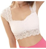 Premium Products Padded Front Lace Bralette (One Size)