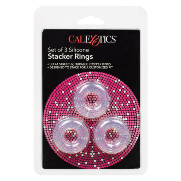 Cal Exotics Silicone Stacker Rings (Set of 3) Clear