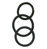 NMC Rubber Cock and Ball Rings (Black)