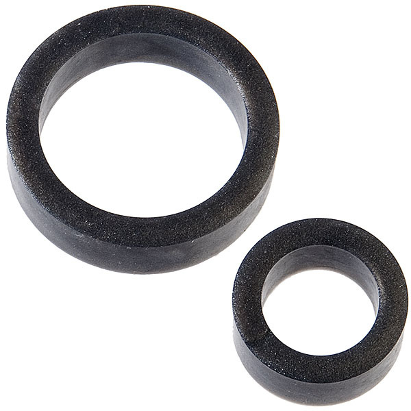 Doc Johnson Toys The C-Rings Dual Pack (Charcoal)