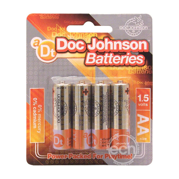 Doc Johnson Toys Batteries: AA (4 Pack) [Doc Johnson]