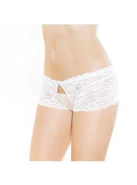 Coquette International Lingerie Coquette Scalloped Stretch Lace Crotchless Panty
