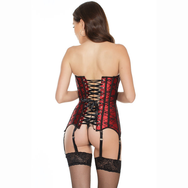 Coquette International Lingerie Coquette Lace Over Satin Corset