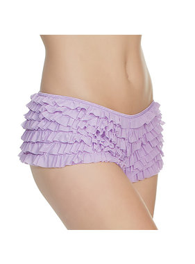 Coquette International Lingerie Coquette Ruffle Shorts with Back Bow Detail