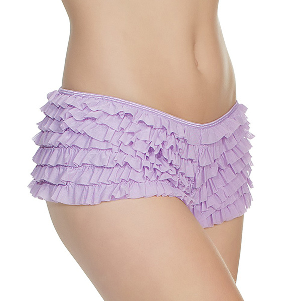 Coquette International Lingerie Coquette Ruffle Shorts with Back Bow Detail (One Size)