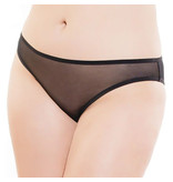 Coquette International Lingerie Soft Mesh Crotchless Panty Black (One Size)