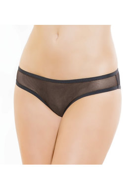 Coquette International Lingerie Soft Mesh Crotchless Panty (Black)