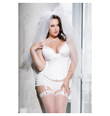 Coquette International Lingerie Deadly Dame Bustier (White)
