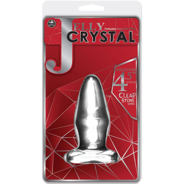 "NMC Jelly Crystal Clear Stone 4.5"" Butt Plug"