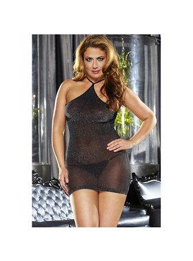 Lapdance Lingerie VIP Black Mini Dress (Plus)
