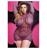 Lapdance Lingerie Net the Party Started Purple Mini Dress