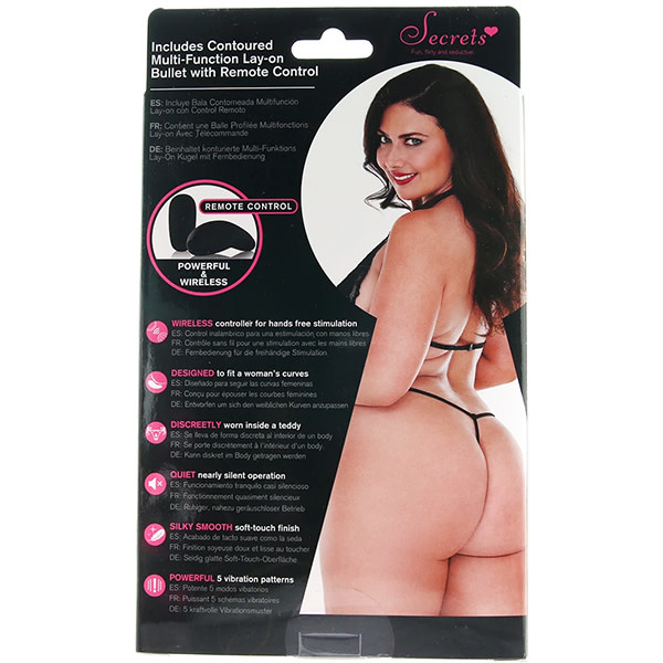 X-Gen Products Remote Vibrating Lace and Mesh Teddy