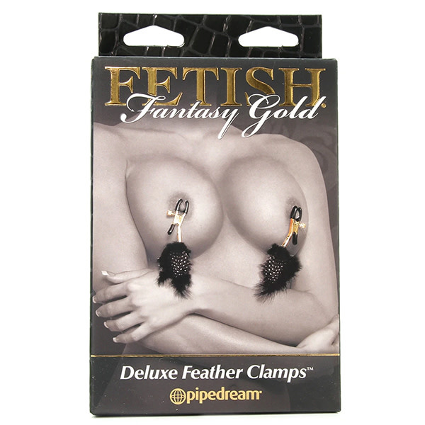 Pipedream Products Fetish Fantasy Gold Deluxe Feather Clamps