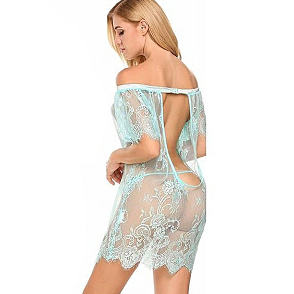 Premium Products Off the Shoulder Lace Chemise