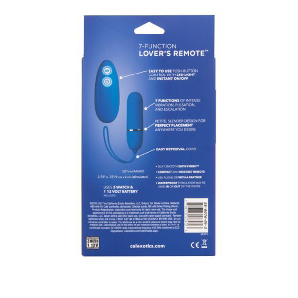 Cal Exotics 7 Function Lover's Remote Bullet Vibe