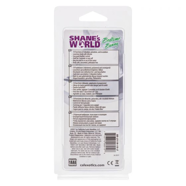 Cal Exotics Shane's World Bedtime Bunny Silicone Vibe (Purple)