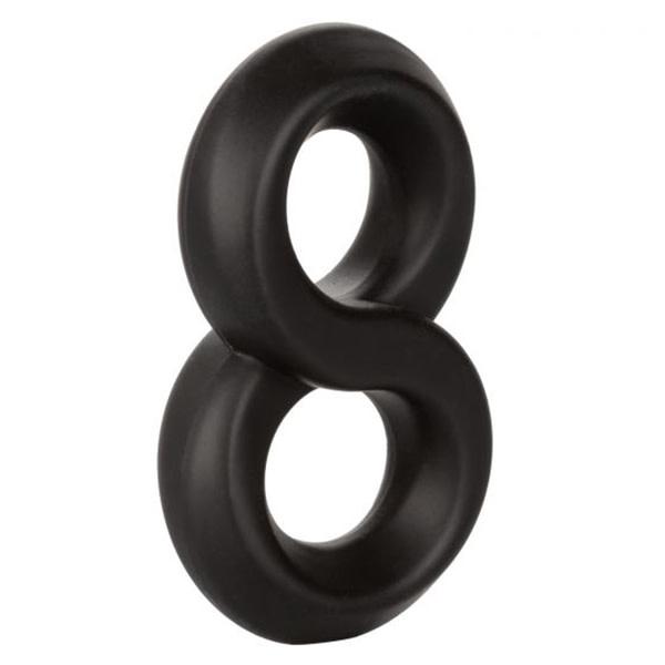 Cal Exotics Ultra-Soft Crazy 8 Cock Ring (Black)