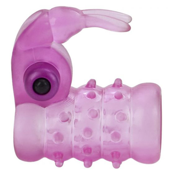 Cal Exotics Stretchy Vibrating Bunny Enhancer (Pink)