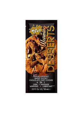 Wet Lubricants Wet Warming Desserts Flavoured Lubricant Chocolate Chip Cookie Foil Pack