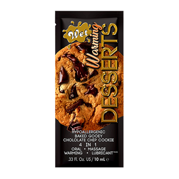 Wet Lubricants Wet Warming Desserts Flavoured Lubricant Chocolate Chip Cookie 0.3 oz (10 ml) Foil Pack