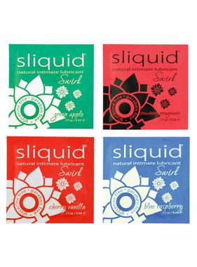 Sliquid Lubricants Sliquid Organics Swirl Flavoured Lubricant Foil Pack