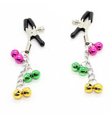 Premium Products Alligator Nipple Clamps with Coloured Bells