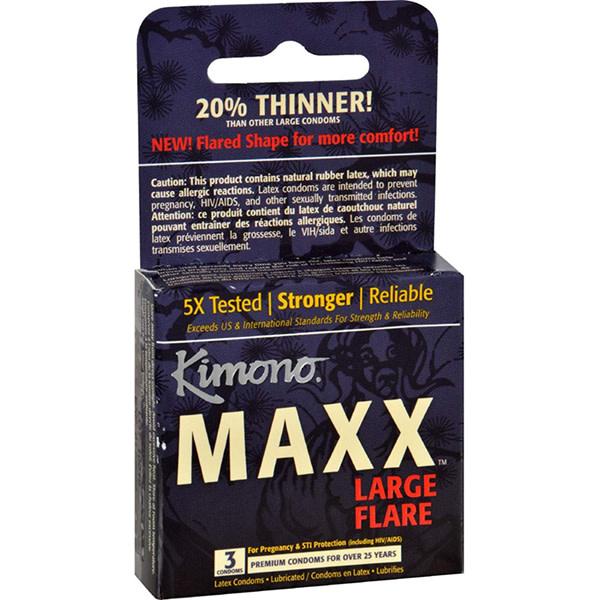 Kimono Condoms Kimono Maxx Large Flare Condoms 3 Pack