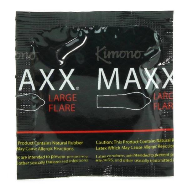 Kimono Condoms Kimono Maxx Large Flare Condoms 12 Pack