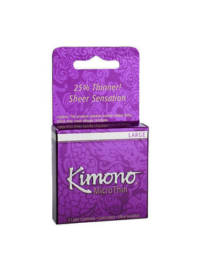 Kimono Condoms Kimono MicroThin Large Condoms 3 Pack