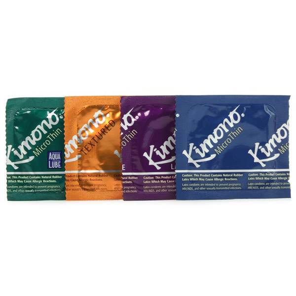 Kimono Condoms Kimono MicroThin Variety Pack Condoms   24 Pack