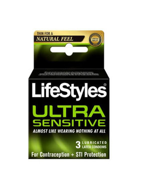 LifeStyles Condoms LifeStyles Ultra Sensitive Condoms  3 Pack