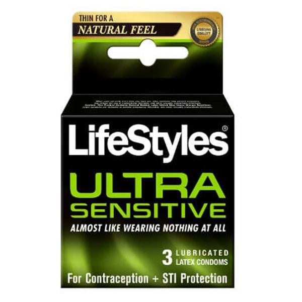 LifeStyles Condoms LifeStyles Ultra Sensitive Condoms  3 Pack