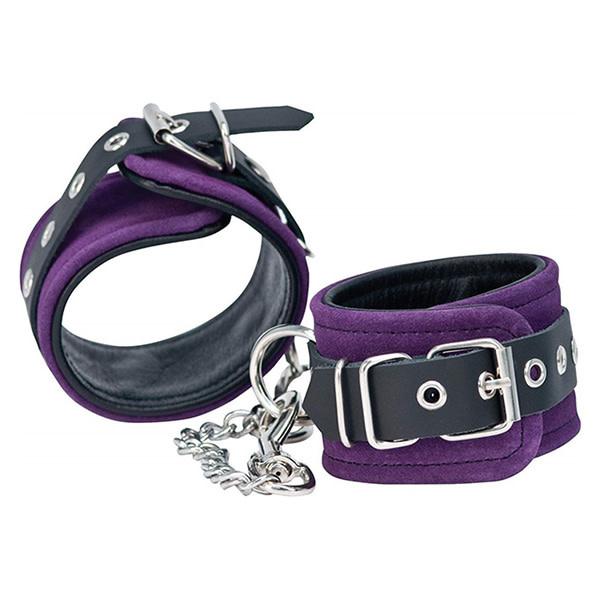BMS Enterprises Punishment Purple Suede Ankle Cuffs