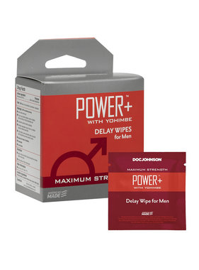 Doc Johnson Toys Delay Wipes for Men Power+ with Yohimbe