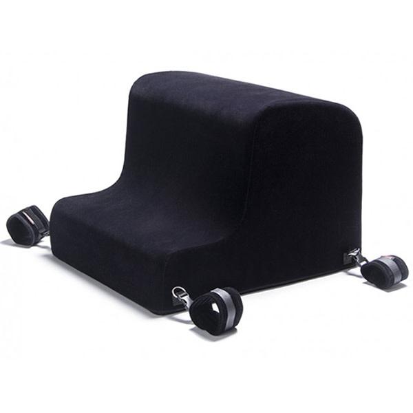 Liberator Bedroom Gear Liberator Bedroom Gear: Black Label Obéir Spanking Bench with Plush Cuff Set