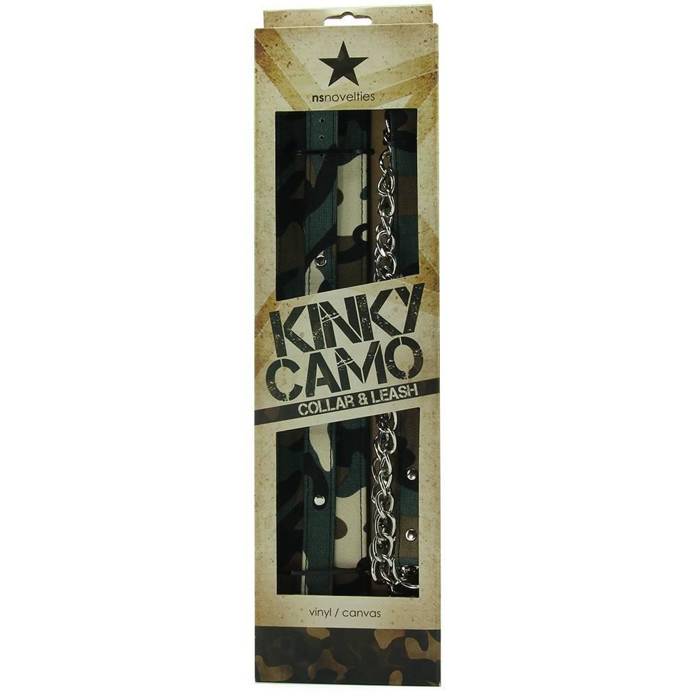 NS Novelties Kinky Camo Collar & Leash