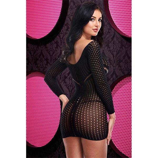 Lapdance Lingerie Above & Jacquard Mini Dress (One Size)