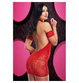 Lapdance Lingerie Cutout Lace Mini Dress (One Size)