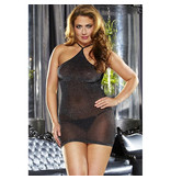 Lapdance Lingerie VIP Black Mini Dress (One Size)