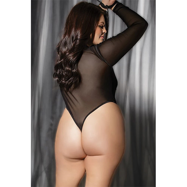 Coquette International Lingerie Tie Me Up! Long Sleeve Teddy