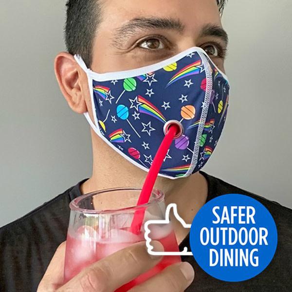 Andrew Christian Menswear Safer Outdoor Dining Lollipop Mask