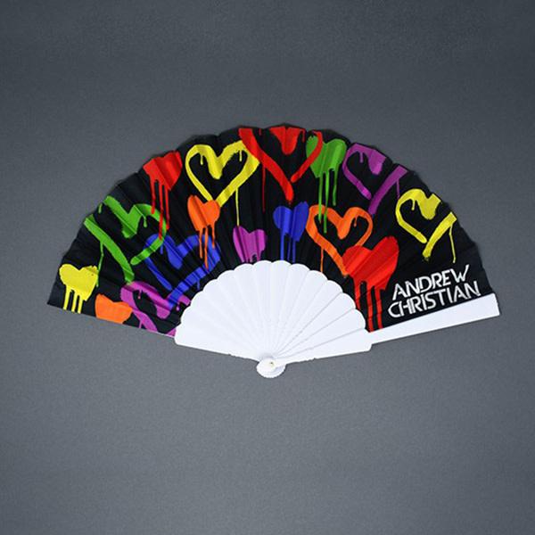 """Andrew Christian Menswear Graffiti Heart Fan (16"""")"""