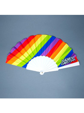 "Andrew Christian Menswear Pride Stripe Fan (16"")"