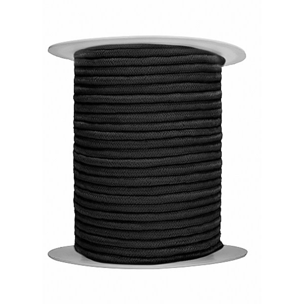 Shots Toys Ouch! 100 Meter Thick and Soft Bondage Rope (Black)